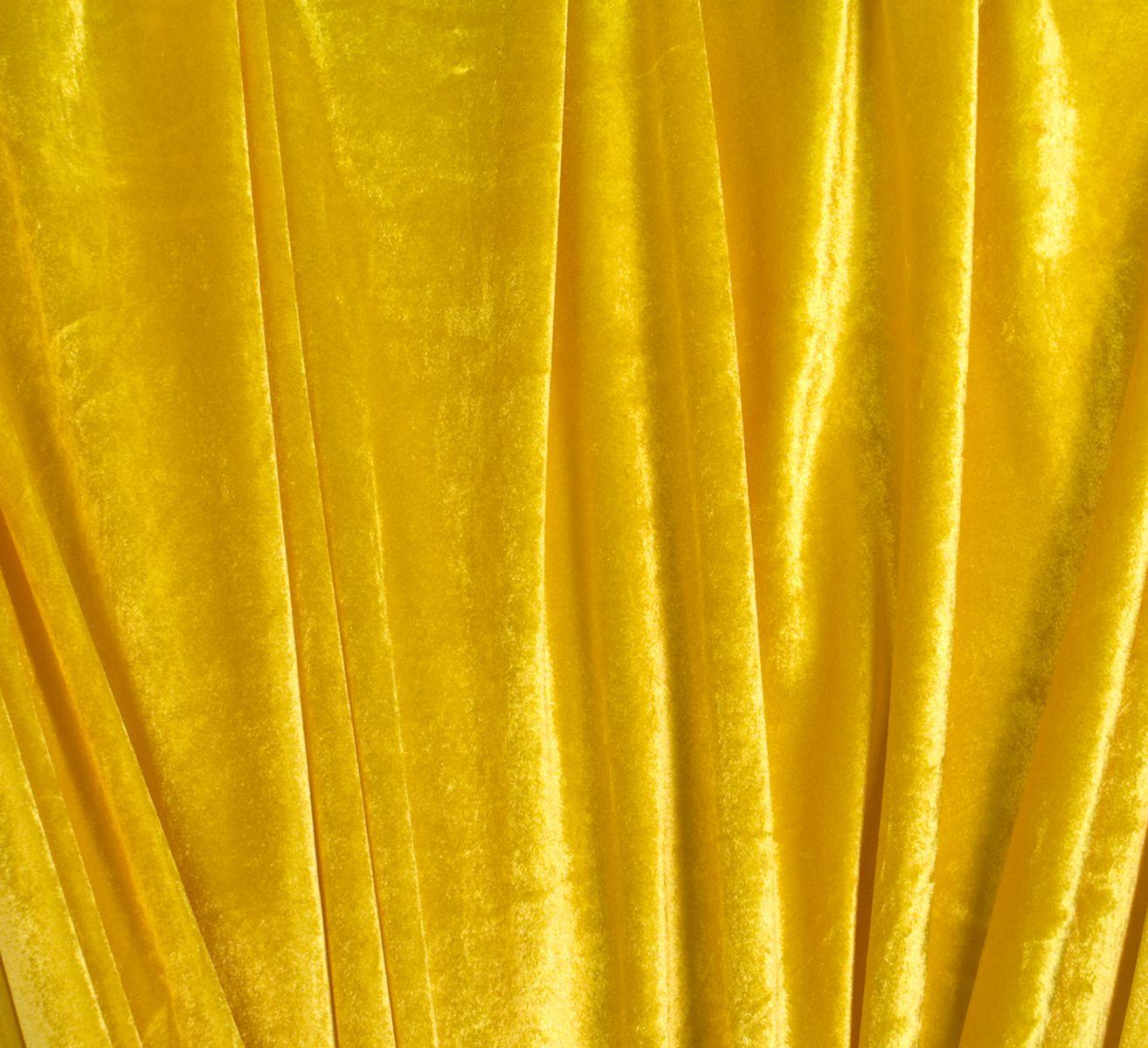 Nicky geel 150cm breed per meter - Geel fluweel ...
