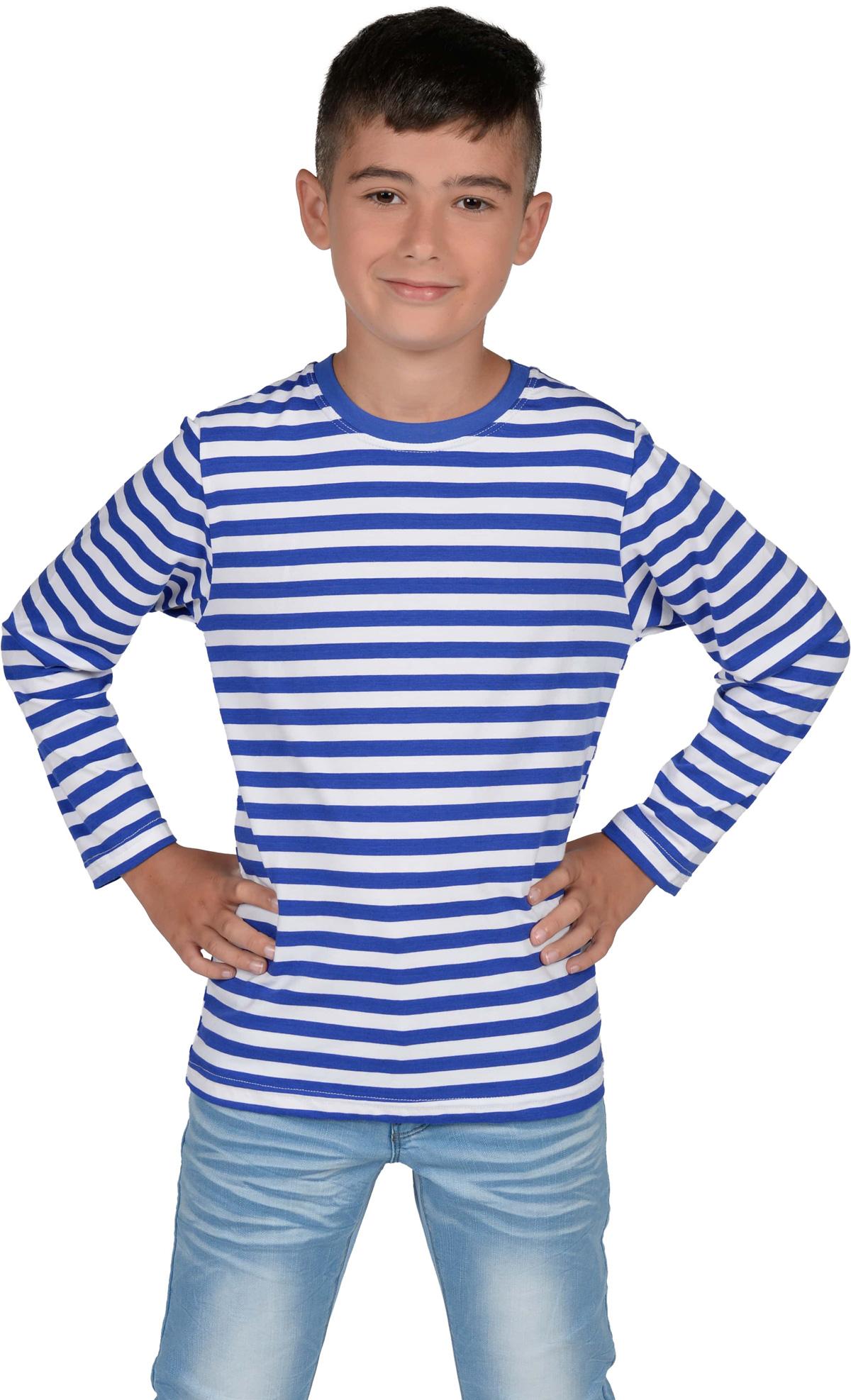 Fabulous Gestreept shirt blau/wit de luxe kind bij karnevalswierts.com ME87