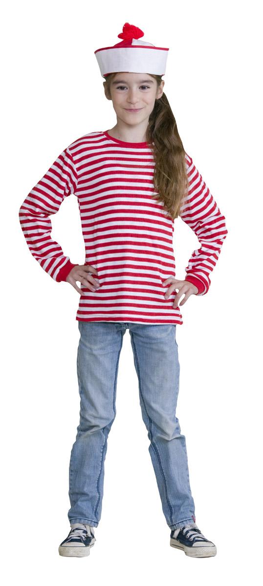 Extreem Strepenshirt rood/wit voor kinderen bij karnevalswierts.com PI41