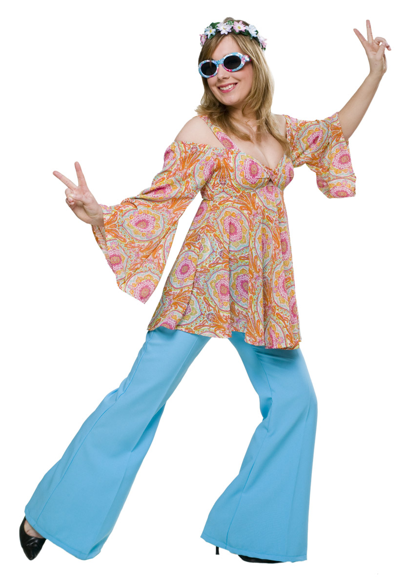 Flower power bluse love bei - Hippie bluse damen ...