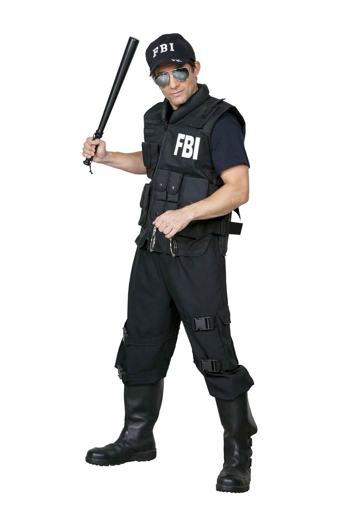fbi weste karneval damen