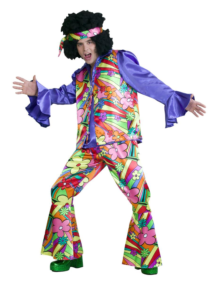 Flower Power 70er Jahre Hippie Kostum Bei Karnevalswierts Com