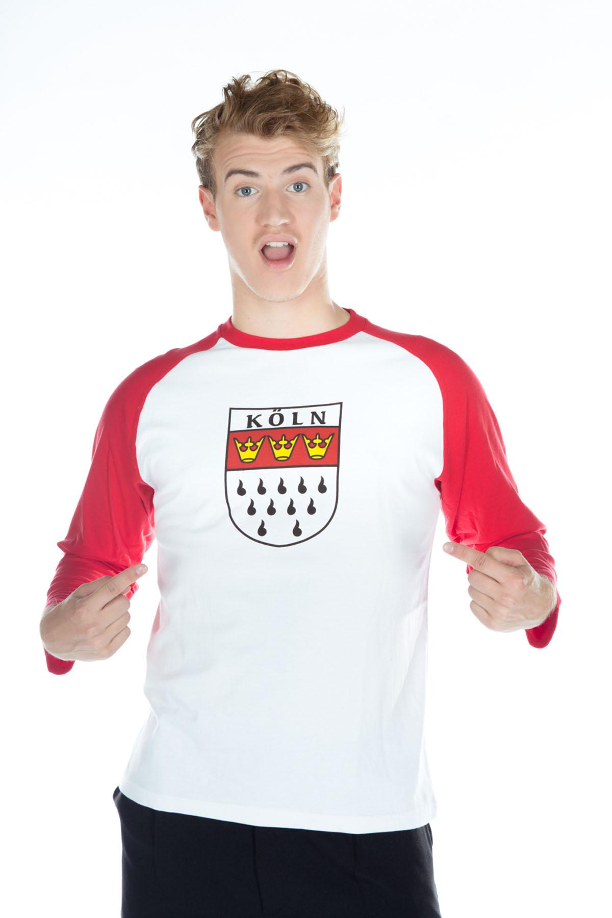24884dfabc32d2 Köln T-Shirt Rot Weiss (langarm) bei karnevalswierts.com