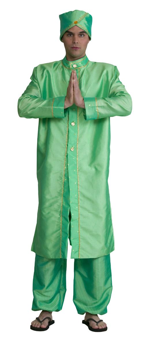 Grunes indisches kleid