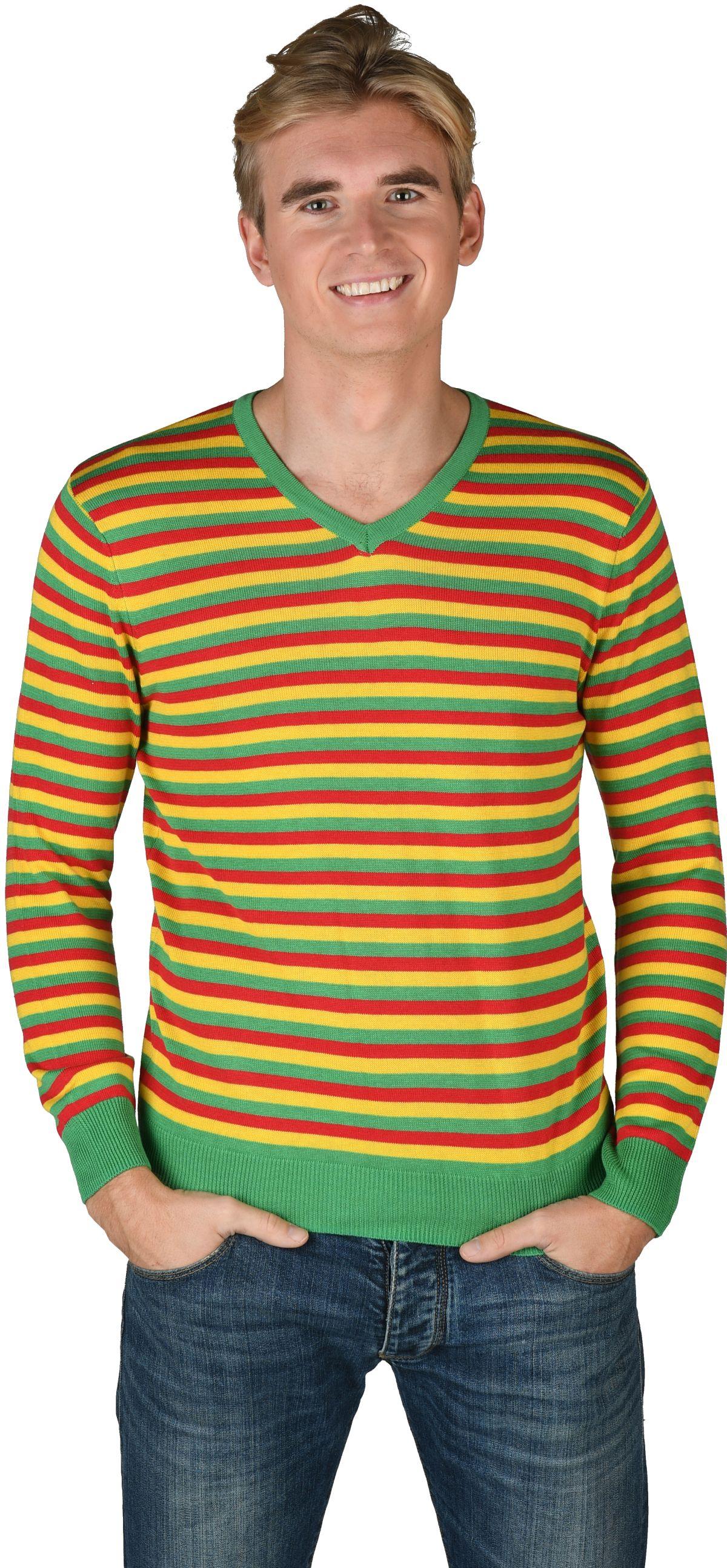 Striped sweater redyellowgreen